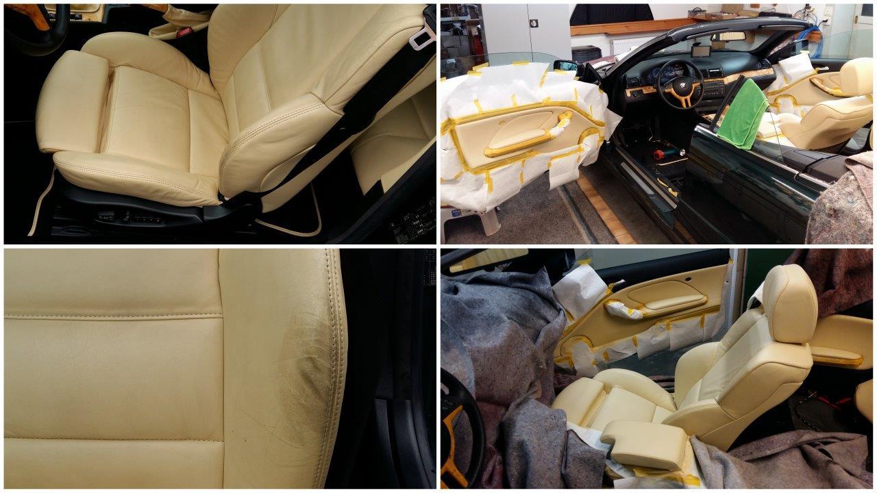 Lederaufbereitung am BMW Z1