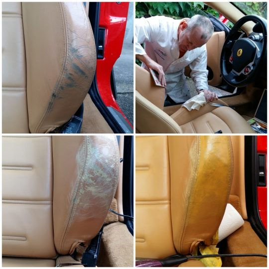 Fahrersitz Reparatur und neu färben