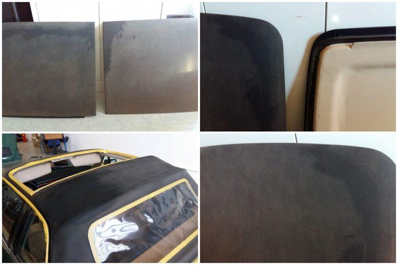 Jaguar Cabrio Verdeck ist verblichen
