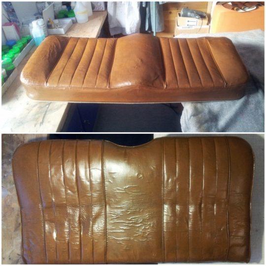 am Ende ist das originale Leder restauriert und erhalten worden