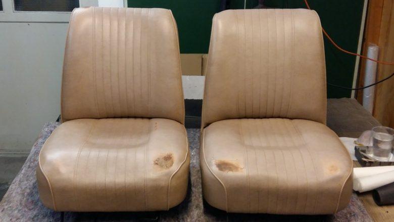 alte Mini Kunstleder Sitze
