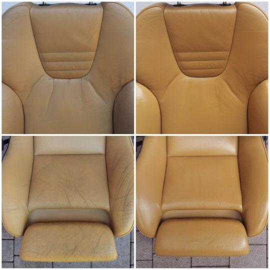 ein Recaro Sitz wurde neu aufbereitet