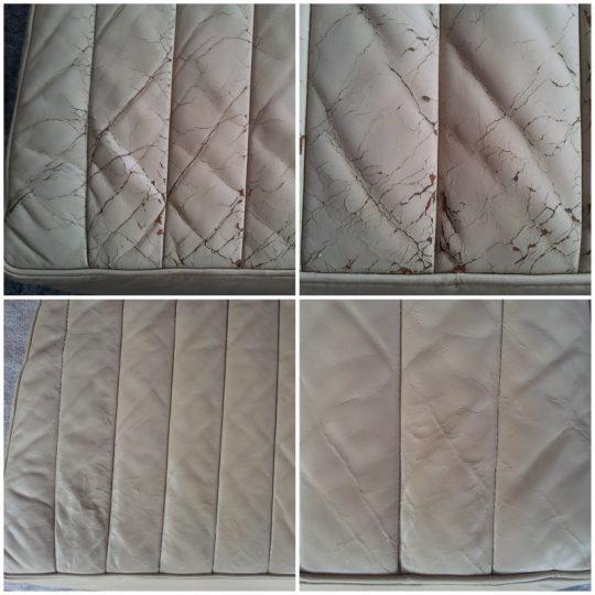 vor & nach dem Leder Aufbereiten