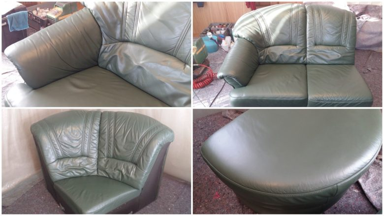 nach dem Färben sieht die Couch wieder neu aus