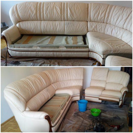 die Couch ist wieder schön gleichmäßig