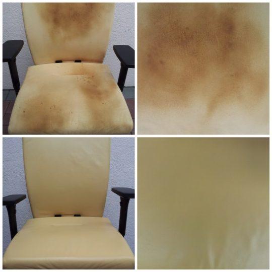Büro Stuhl Flecken ausfärben