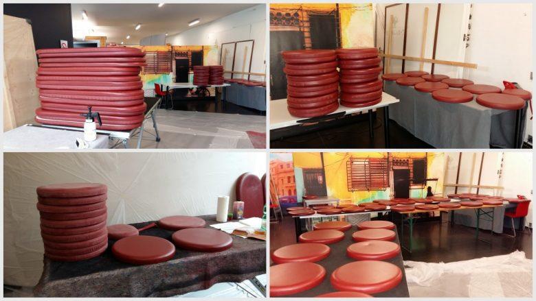 Restaurant Sitzauflagen aufbereiten