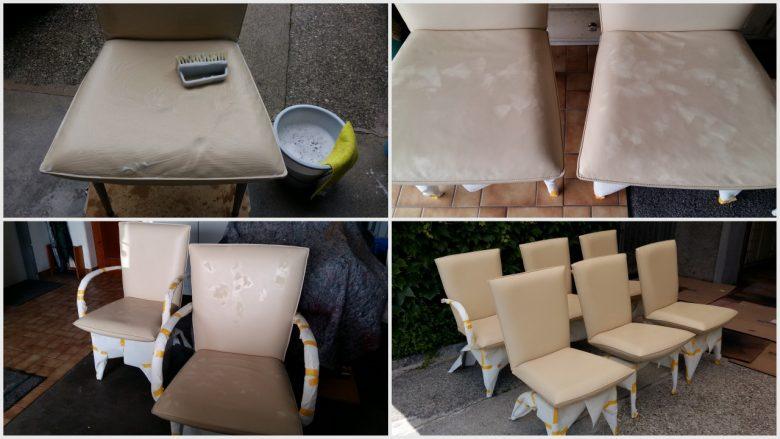 Büro Stühle aufbereiten und neu färben