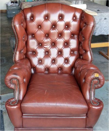 ein alter Stil Leder Sessel