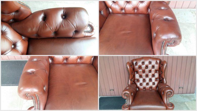 nach dem Färben ist der Sessel wieder wie neu