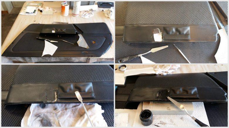 Porsche Verkleidung reparieren und nach färben