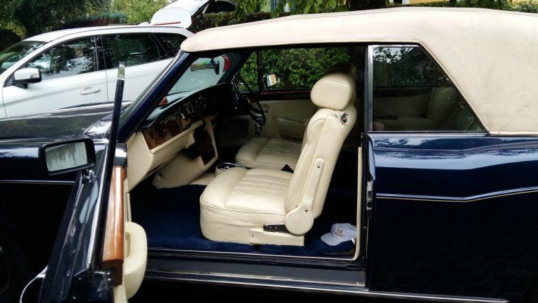die Lederausstattung eines Rolls Royce Corniche