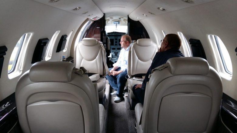 die Sitze eines Citation Jet
