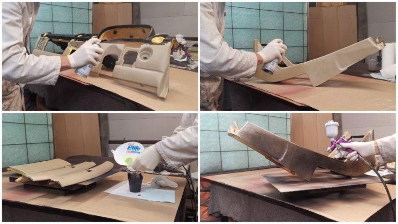 gesamten Kunststoff grundieren und vorfärben