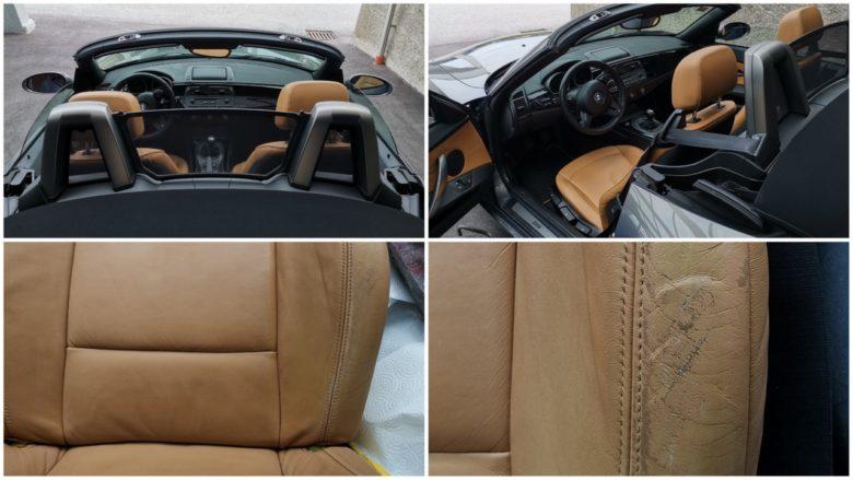 BMW Z4 Cabrio Fahrersitz Lederabnutzung