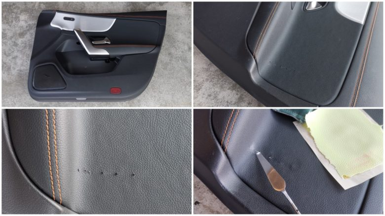 Beschädigungen an einer Mercedes Türverkleidung