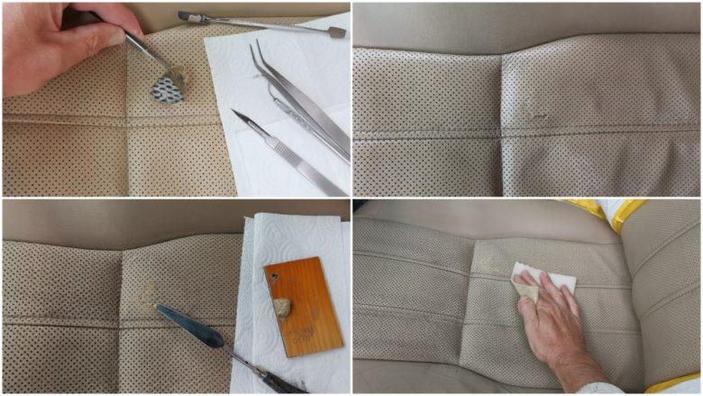 Leder reinigen, schleifen, reparieren