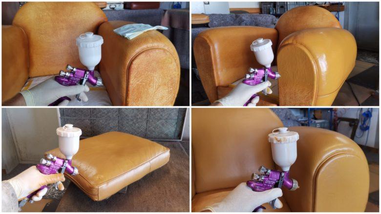 der Sessel wurde neu eingefärbt
