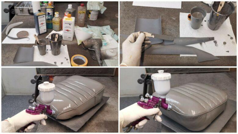 Lederfarbe anmischen und neu einfärben